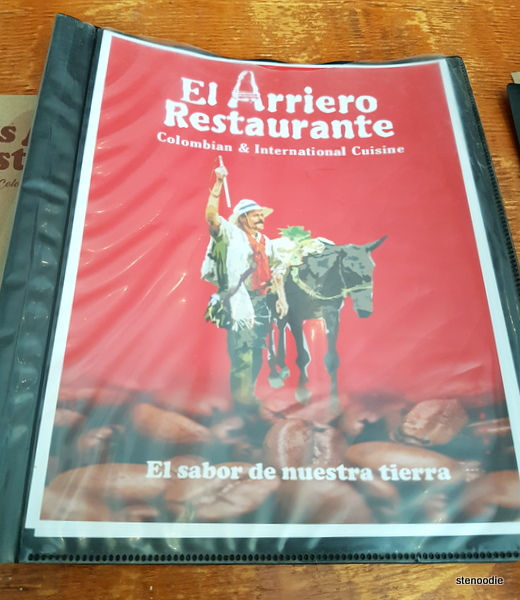 Los Arrieros Restaurante menu cover