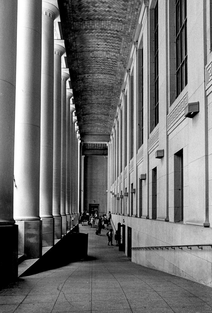 Behind the Columns at Union Station