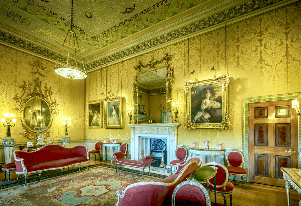 The Yellow Drawing Room at Harewood House, West Yorkshire