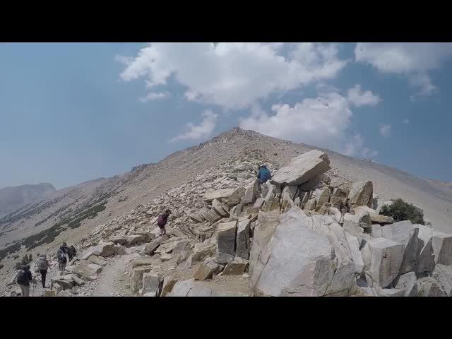 0229 GoPro panorama video from Kearsarge Pass
