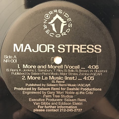 MAJOR STRESS:MORE & MORE(LABEL SIDE-A)