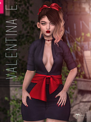 NEW!  Valentina E. Elaine Dress w/Texture Change Sash @ FaMESHed!