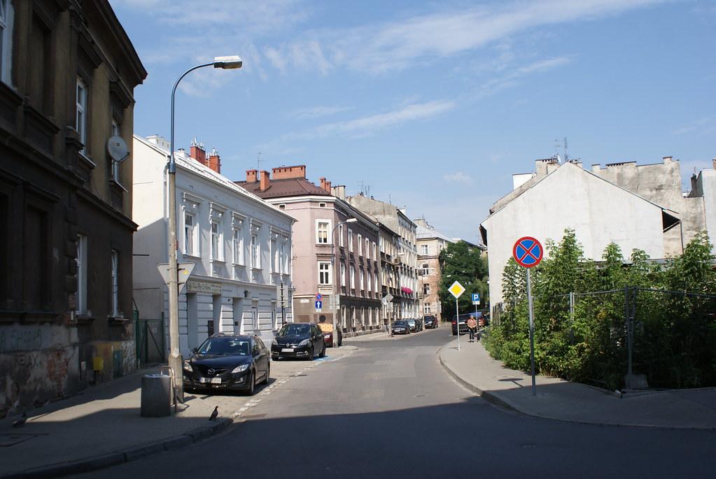 Rue du quartier de Podgorze à Cracovie.
