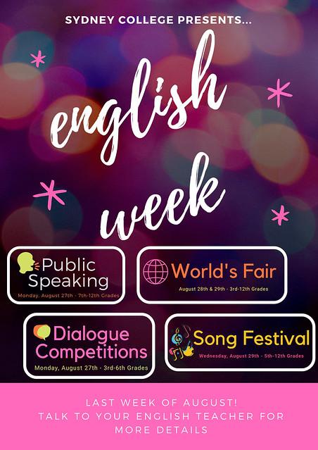 poster englsih week