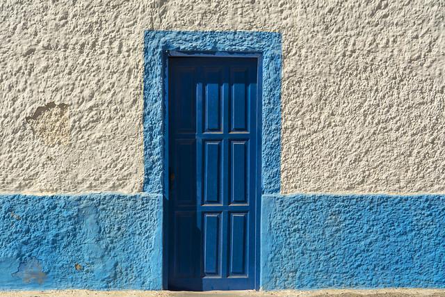 Blue door on Fuerteventura