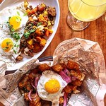 Treat your friends for 'poutine'-up with you so far this summer at @rogueisland brunch all weekend. For reservations call 401-831-3733 • • • • #food #bonappetit #insta #rogue #foodandwinefestival #rogueisland #foodies #foodie #yum #eeeeeats #foods #food52