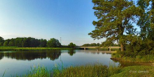 piscatawaycreek waterway bridge landscape panorama essexcounty virginia va