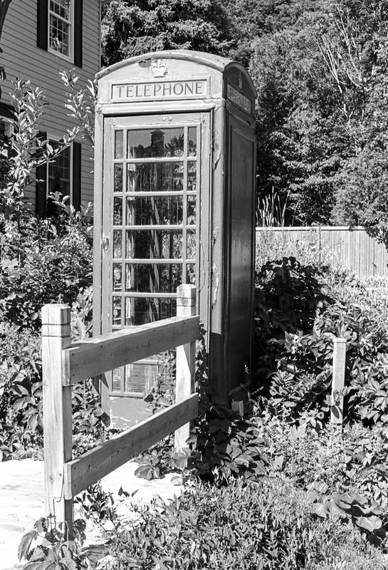 British Phone Box in Mono