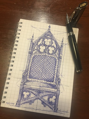 Gothic chair study sketch