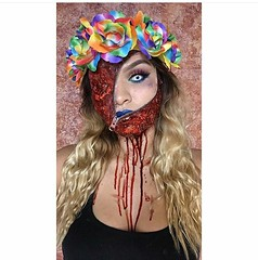 Awsome Makeup Idea for Halloween  Makeup by @hott_box