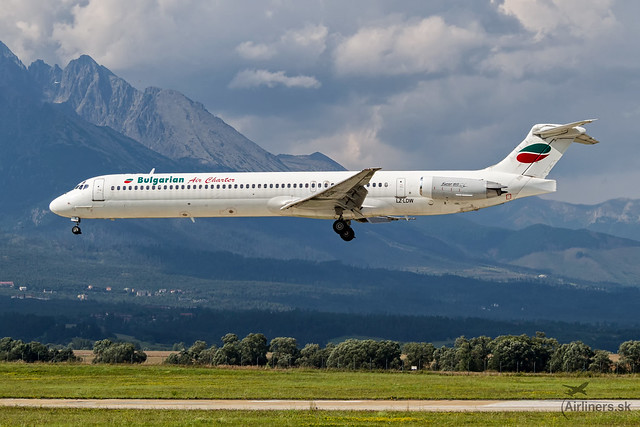 LZ-LDW Bulgarian Air Charter McDonnell Douglas MD-82