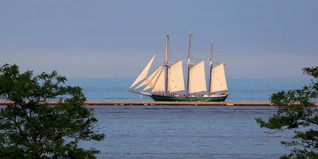 Denis Sullivan on Lake Michigan