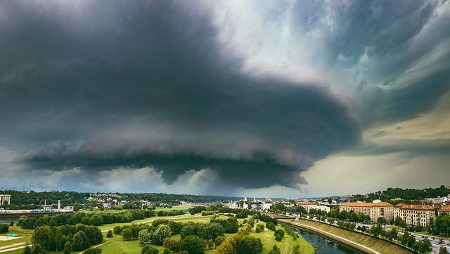 Storm clouds   Kaunas aerial #226/365