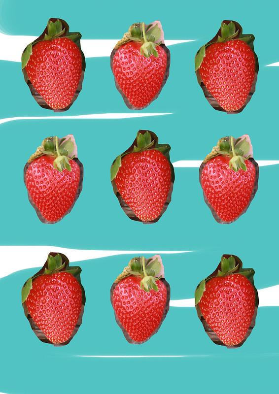 Strawberries pattern