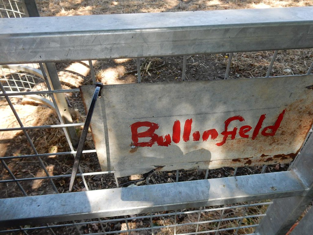 Mr Bullinfield A lot of land round Weedon seems to be owned by a Mr Bullinfield. Why else would his name be on all the gates? Aylesbury Vale Parkway to Aylesbury