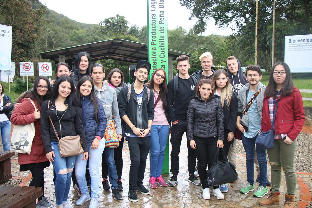 Estudiantes de intercabio en Guatavita