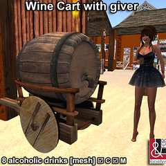 Wine Cart with giver