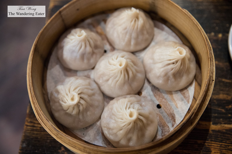 Pork xiao long bao (小籠包; soup dumplings)