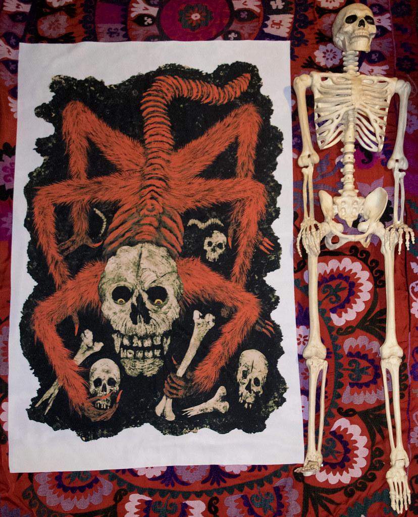 Aeron Alfrey - Master of the Worm-Eaten Skull With Skeleton