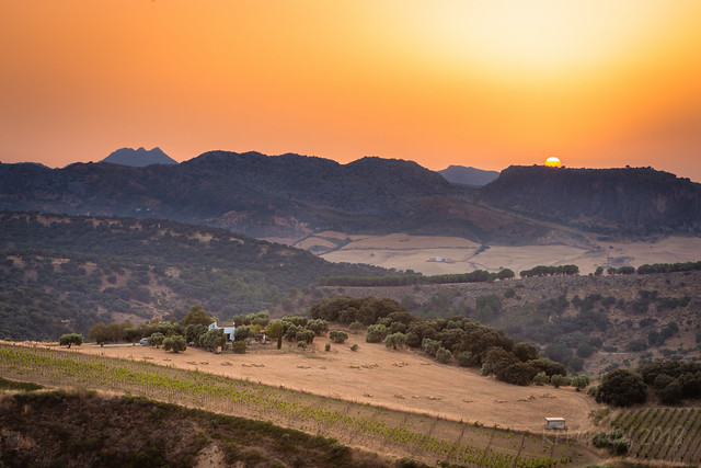 Sunset in Ronda - southern Spain
