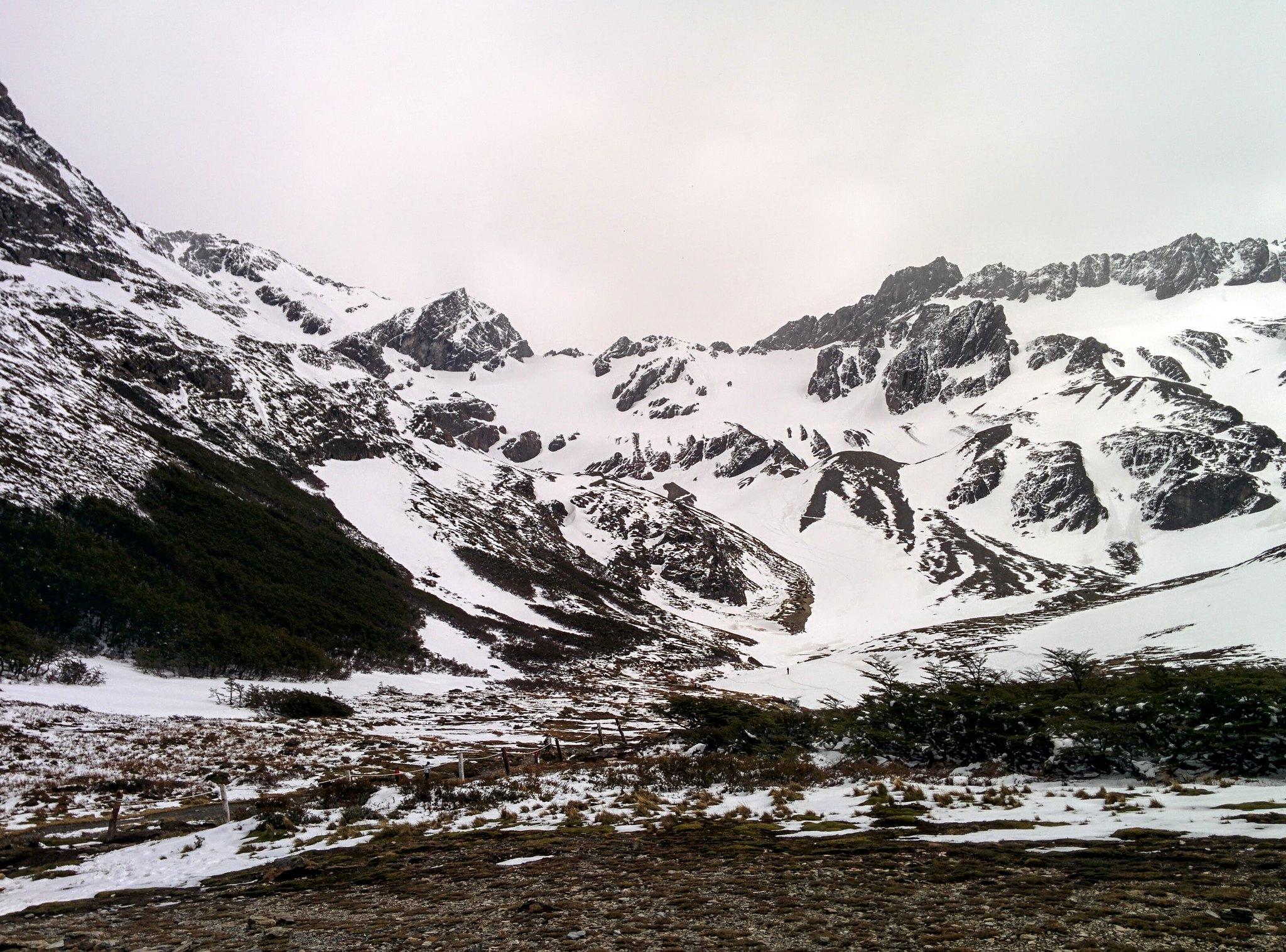 Martial glacier covered in snow