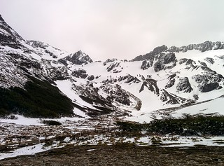 Martial glacier covered in snow