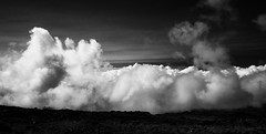 Clouds Boiling up at the edge of the Haleakala caldera