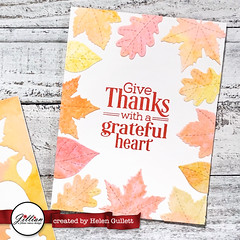 Watercolored Fall Leaves Cards