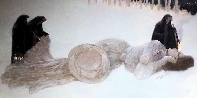 Gustave Adolf Mossa - A Carcass, detail, 1906