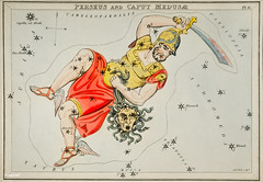 Sidney Hall's (1831) astronomical chart illustration of the Perseus and the Caput Medusae. Original from Library of Congress. Digitally enhanced by rawpixel.