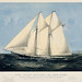 Chromolithograph of the yacht Sappho of New York published by Currier & Ives. Original from Library of Congress. Digitally enhanced by rawpixel.