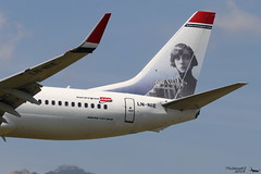 Boeing 737 -8JP NORWEGIAN LN-NIE 39495 Bastia juillet 2018