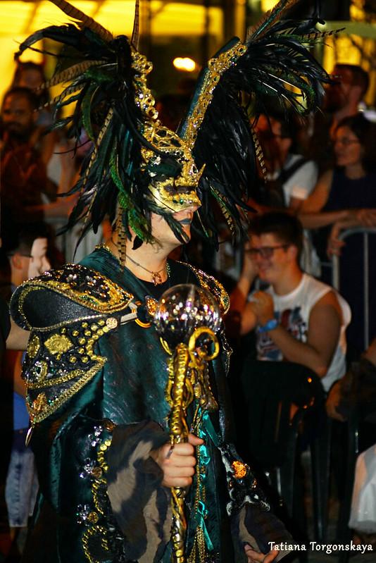 Член карнавальной группы Риеки