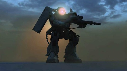 Gau assault at sunset - Shade 3D