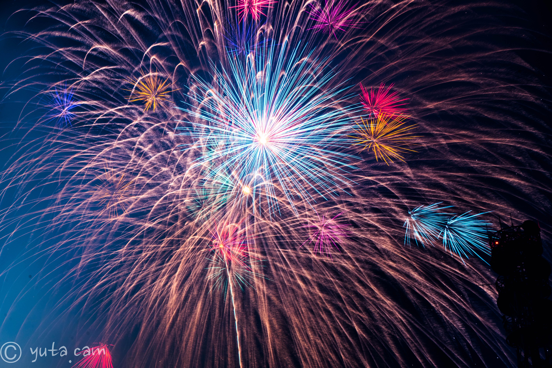 fireworks in Ashikaga 2018