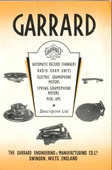 Garrard Descriptive List 1940