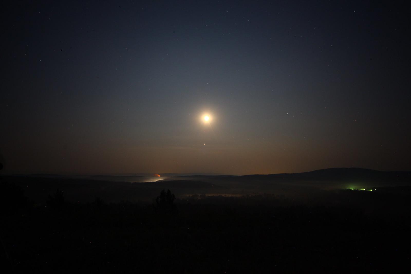 Лунное затмение, начало