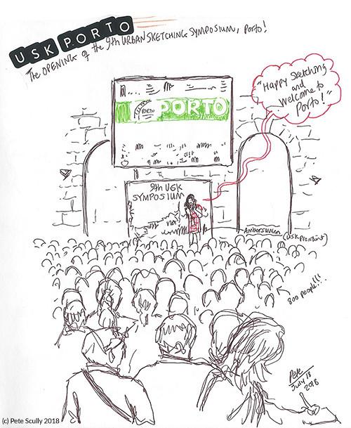 USk Porto opening ceremony