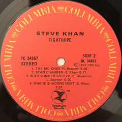 STEVE KHAN:TIGHTROPE(LABEL SIDE-B)