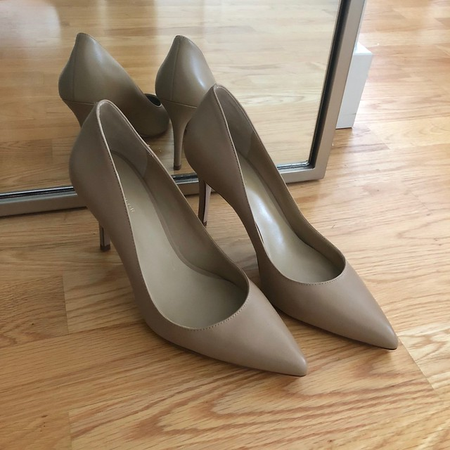 Ann Taylor Mila Leather Pumps in camel