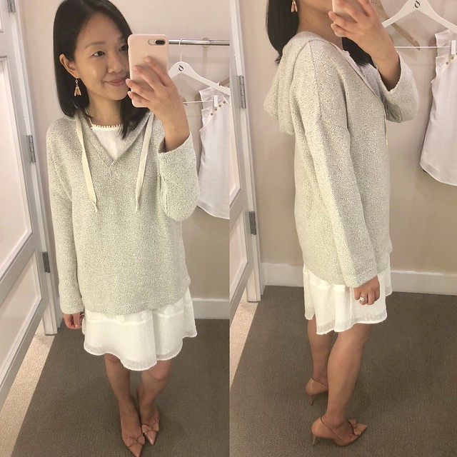 Lou & Grey Tweed Hoodie Top, size XS regular