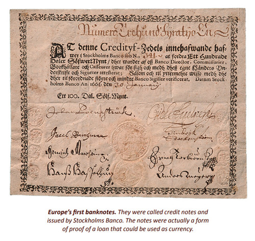 Europe's first Banknotes