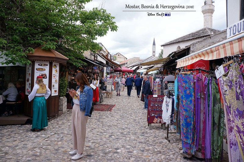 2018 Bosnia Mostar Old Town Bridge Area