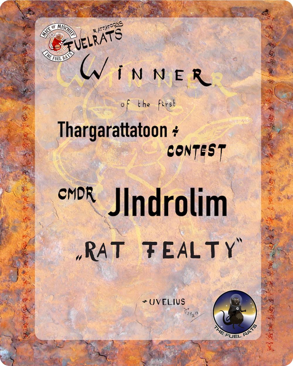 Rattatoon Contest Winner certificate