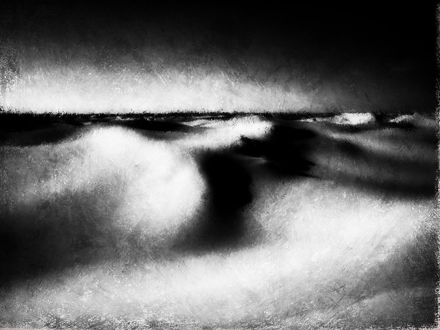 Monahans Sand. Abstract in black and white.