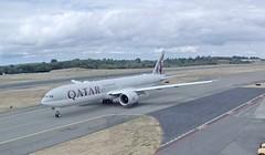 Qatar Airways Boeing 777-300ER A7-BET test flight Paine Everett Airpor