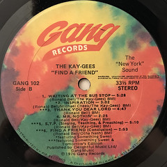 THE KAY-GEES:FIND A FRIEND(LABEL SIDE-B)
