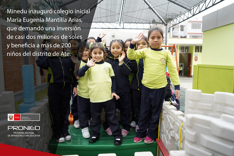 Inauguran colegio inicial María Eugenia Mantilla Arias en Ate
