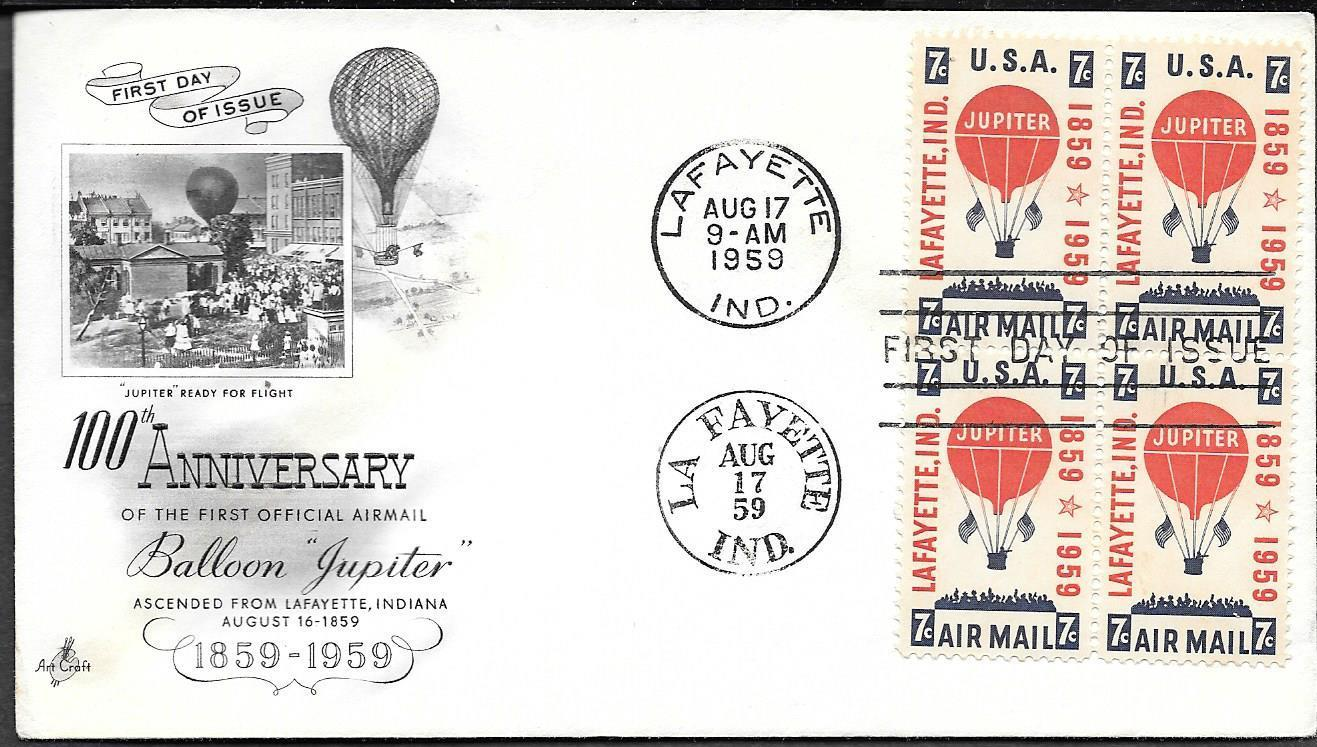 United States - Scott #C54 (1959) first day cover, ArtCraft cachet