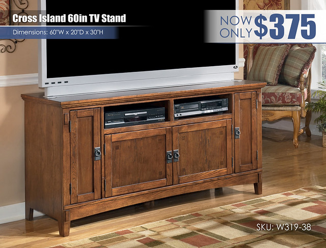 Cross Island 60in TV Stand_W319-38